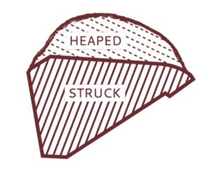 heaped struck