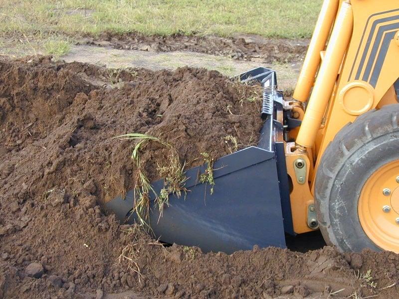 Virnig Low Profile Dirt Bucket digging dirt